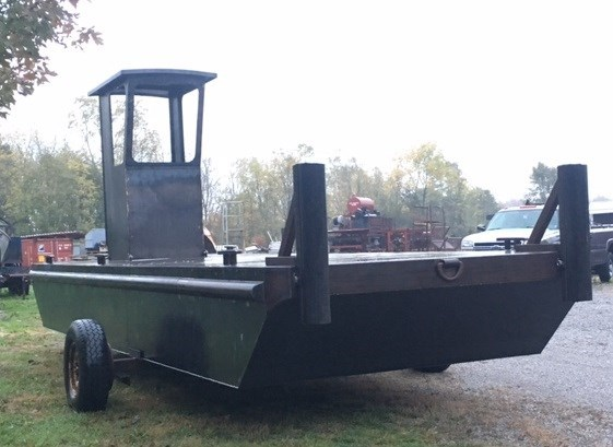 "2018 23'6 x 8' x 30"" Steel Work Barge w/ Wheelhouse Photo 1 sur 3"