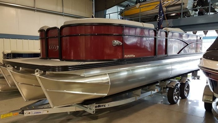 2019 Manitou 22 Aurora Angler LE Pontoon Photo 1 sur 17