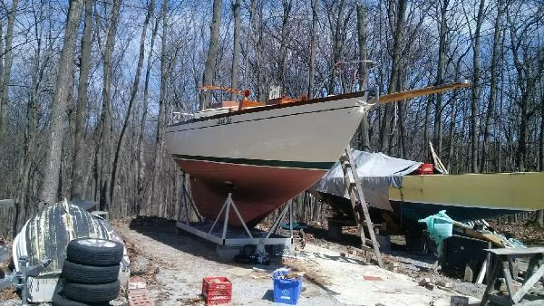 1963 Custom 28' wooden sloop Photo 9 sur 39