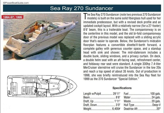 1999 Sea Ray 270 Sundancer Special Edition Photo 19 of 21