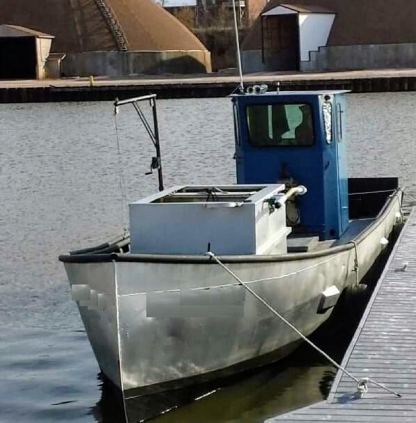 1990 36' x 9'3 x 4.2' Steel Trapnetter/Minnow Boat Photo 1 sur 3