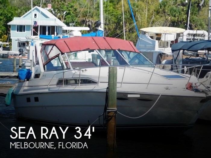 Sea Ray 340 Sundancer 1989 Used Boat For Sale In Melbourne Florida Boatdealers Ca