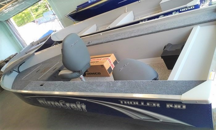2019 MirroCraft Boat (Only) Troller Tiller 140T 20T - Blue Photo 8 of 14