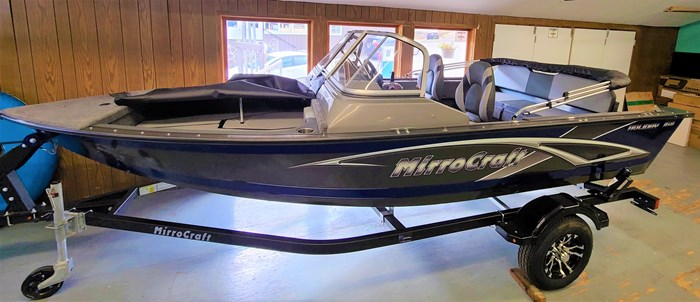 2021 MirroCraft Boat, Mercury Motor & Trailer (Package) Holiday 168 - 20T - Blue Photo 1 of 25