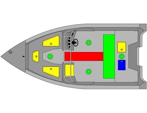 2021 MirroCraft Boat, Mercury 90HP Motor&Trailer (Pkg) Holiday 168 - 20T - Blue Photo 2 of 25