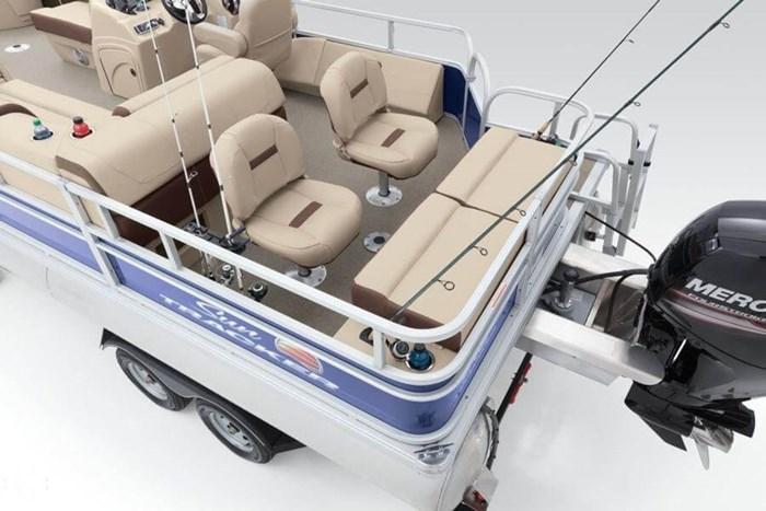 2016 Sun Tracker 22 DLX Fishin Barge Photo 18 sur 21