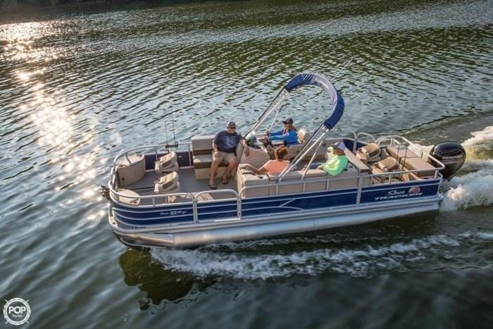 2016 Sun Tracker 22 DLX Fishin Barge Photo 20 sur 21