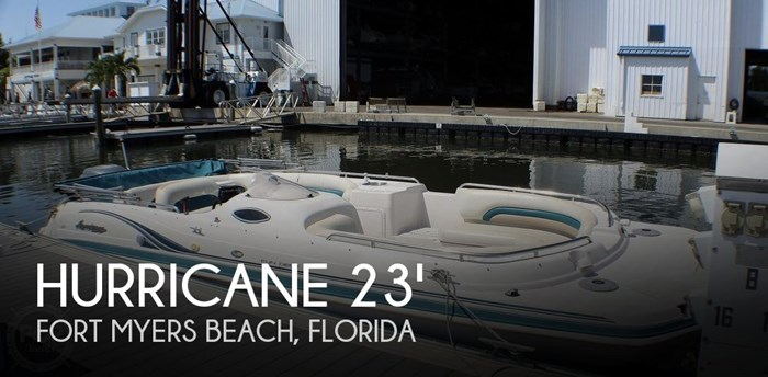 Hurricane Fundeck Gs232 2003 Used Boat For Sale In Fort Myers Beach Florida Boatdealers Ca