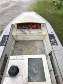 1998 1998 21' x 7'6 Aluminum Work Boat w/ Trailer Photo 2 of 9