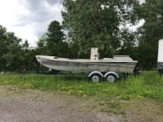 1998 1998 21' x 7'6 Aluminum Work Boat w/ Trailer Photo 7 of 9