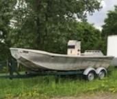 1998 1998 21' x 7'6 Aluminum Work Boat w/ Trailer Photo 9 of 9