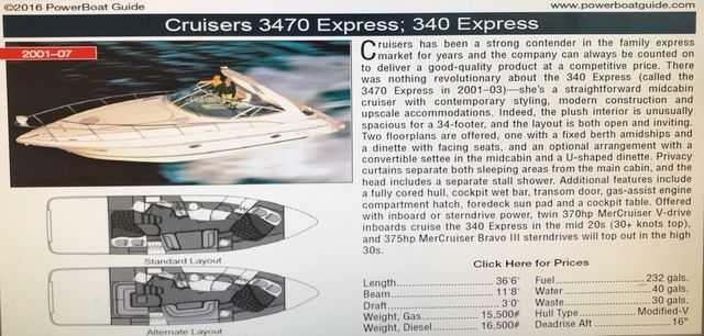 2001 Cruisers Yachts 3470 Photo 18 of 18
