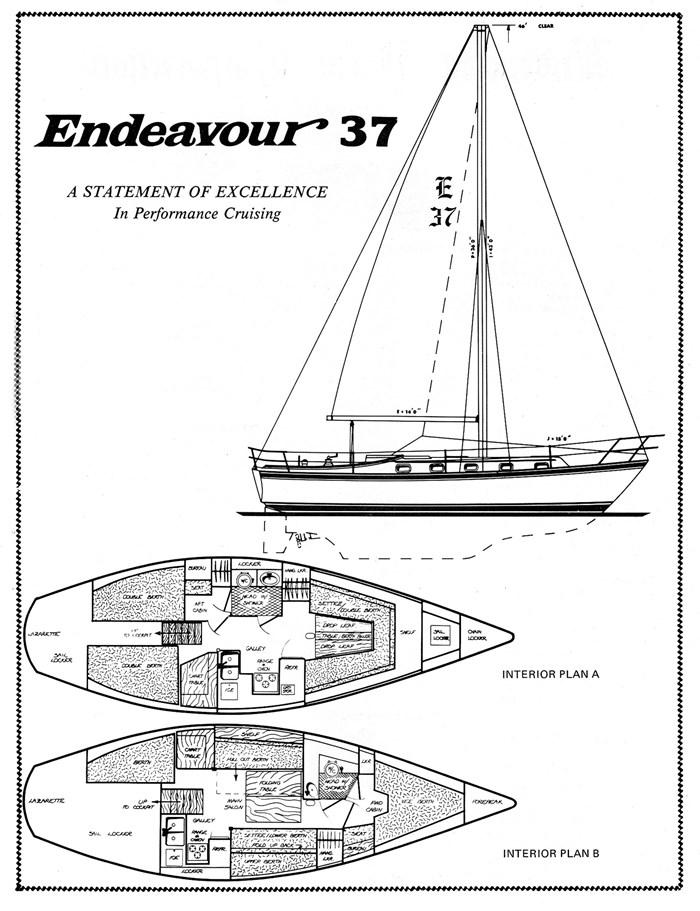 1979 Endeavour 37 Plan A Photo 10 sur 23