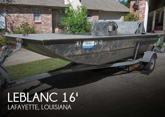 2007 Leblanc Boat Works 16 Custom Duck hunter Photo 1 sur 20