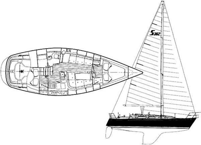 1997 Sabre Yachts Photo 34 sur 35
