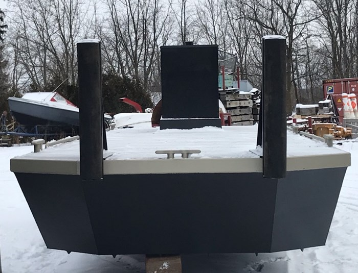 2021 23' x 8'6 New Steel Work Barge With Push Knees, Console, Spud Pockets Photo 5 of 7