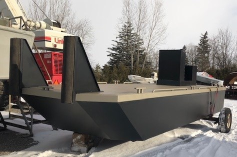 2021 23' x 8'6 New Steel Work Barge With Push Knees, Console, Spud Pockets Photo 1 of 7