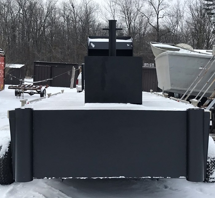 2021 23' x 8'6 New Steel Work Barge With Push Knees, Console, Spud Pockets Photo 7 of 7