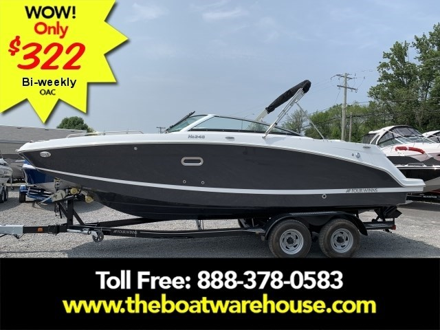 2020 Four Winns HD 240 Mercruiser 6.2L B3 00HP Tandem Trailer Photo 1 of 32