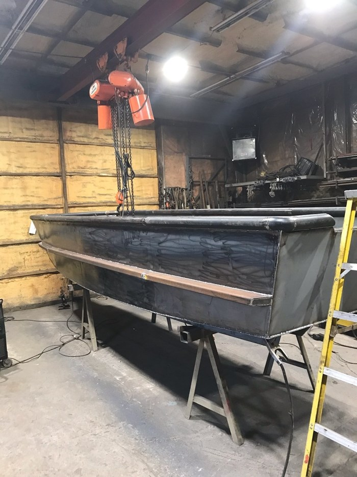 2020 17' x 5'6 Steel Work Boat Photo 8 sur 10