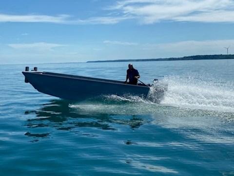 2020 17' x 5'6 Steel Work Boat Photo 1 sur 10