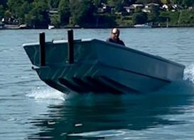 2020 17' x 5'6 Steel Work Boat Photo 6 sur 10
