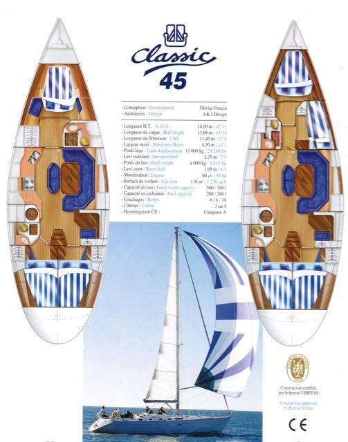1998 Dufour Yachts Dufour 45 / Classic Photo 12 sur 25