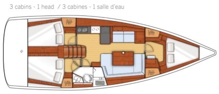 2015 Beneteau Oceanis 41 Photo 9 sur 40