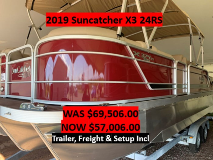 2019 SunCatcher Pontoons by G3 Boats X3 24RS - SAVE $12,500 - WAS $69,100 Photo 1 sur 5