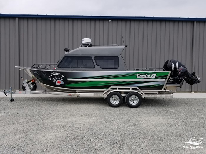 """2018 Rogue Jet Boatworks Coastal 23 HT Outboard Model - Grizzly"""" Photo 1 sur 46"""