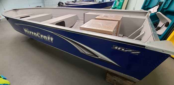 2021 MirroCraft Boat ONLY Laker 3672 Fisherman Utility V - 20T - Blue Photo 6 of 14