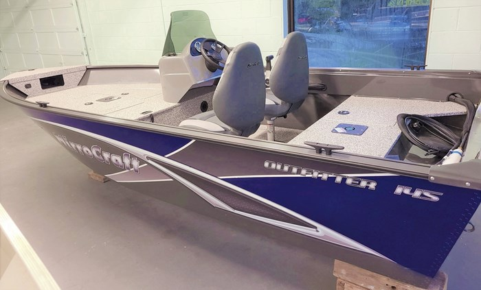 2021 MirroCraft Boat  Mercury Motor (Package) Outfitter Side Console 145SC-O - 20T - Blue Photo 1 of 21