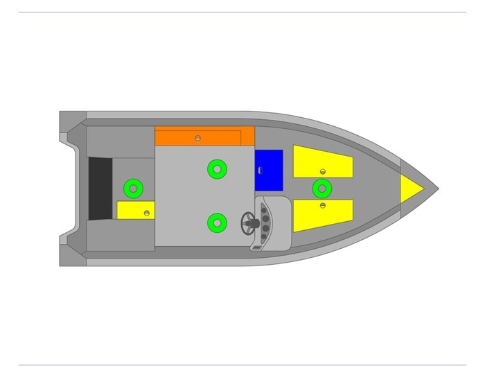 2021 MirroCraft Boat  Mercury Motor (Package) Outfitter Side Console 145SC-O - 20T - Blue Photo 5 of 21