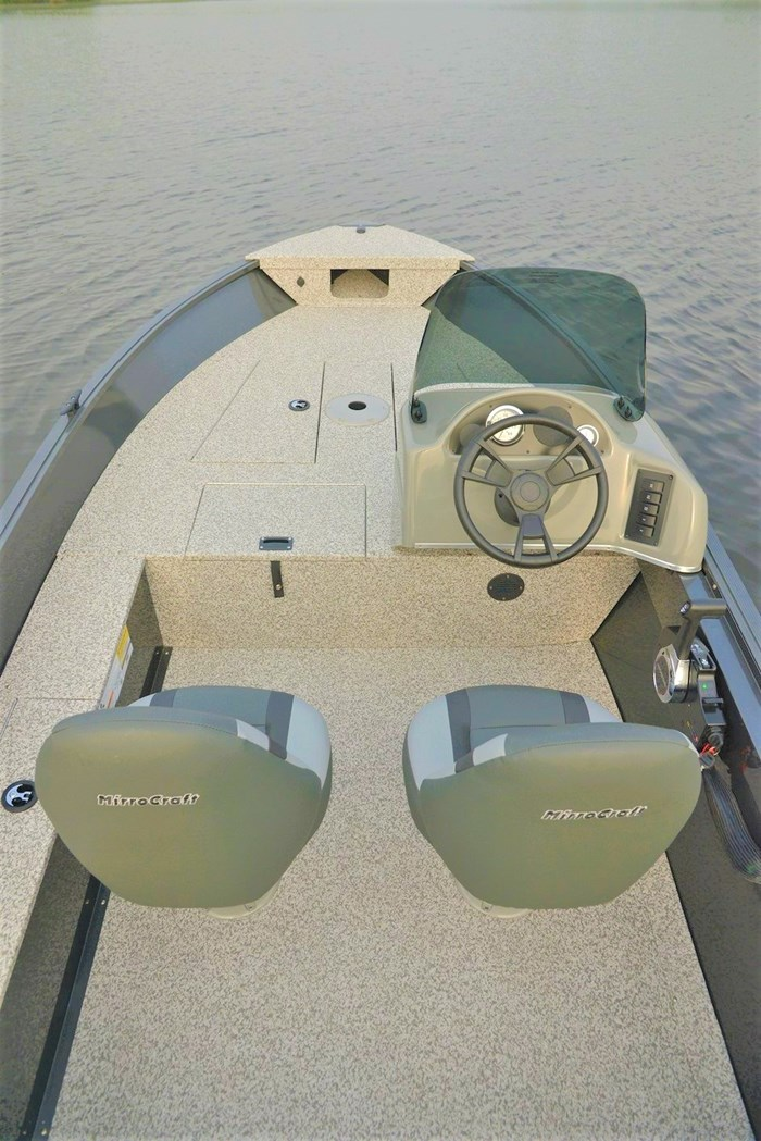 2021 MirroCraft Boat  Mercury Motor (Package) Outfitter Side Console 145SC-O - 20T - Blue Photo 13 of 21
