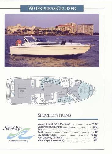 1989 Sea Ray 390 Express Cruiser Photo 20 sur 20