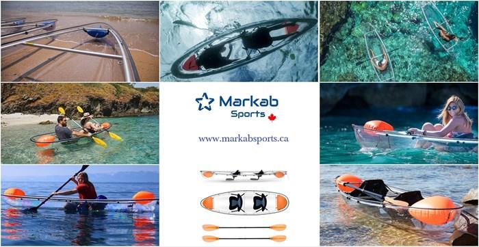 2021 Markab Sports Transparent Tandem canoe Photo 2 sur 5