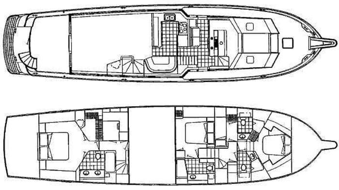 1998 Hatteras Sport Deck Motor Yacht Photo 40 sur 40