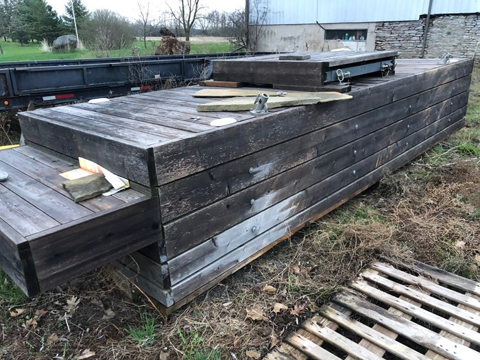 2016 2016 18' X 5' Dock Wood over steel frame Photo 2 sur 2