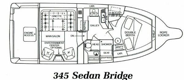 1988 Sea Ray 345 Sedan Bridge Photo 9 of 57
