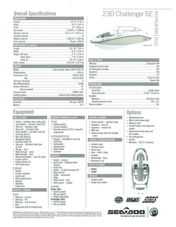 2009 Sea-Doo Challenger 230 SE 510 HP Photo 9 of 9