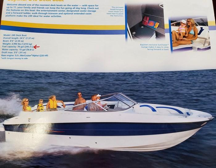 2006 Bayliner 249 deck boat Photo 1 sur 15