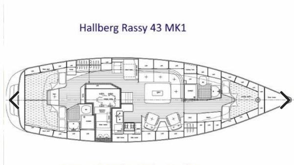 2006 Hallberg-Rassy 43 Sloop Photo 2 of 32